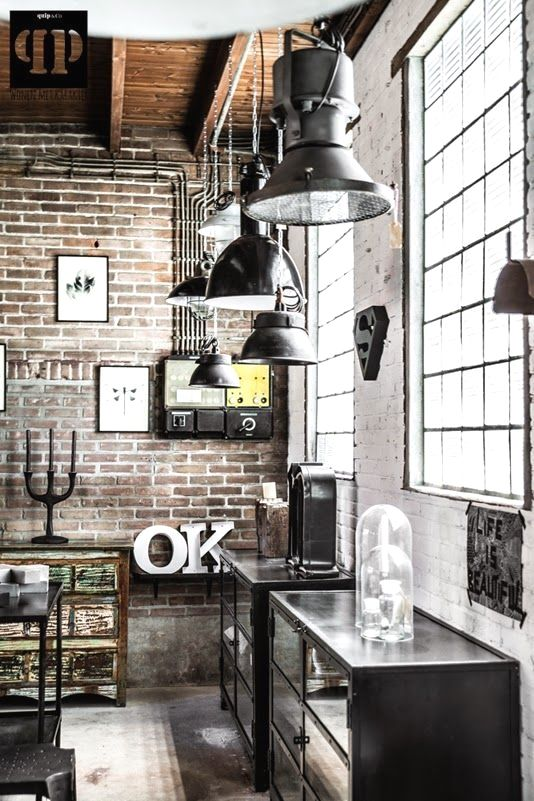 50 Awesome Industrial Vintage Decor Ideas For A Brick Steel Home Vintindustrial Industrial Kitchen Design Industrial Interior Design House Interior Decor
