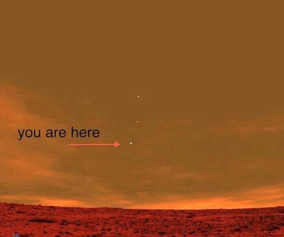 Pic from Curiosity Rover on Mars