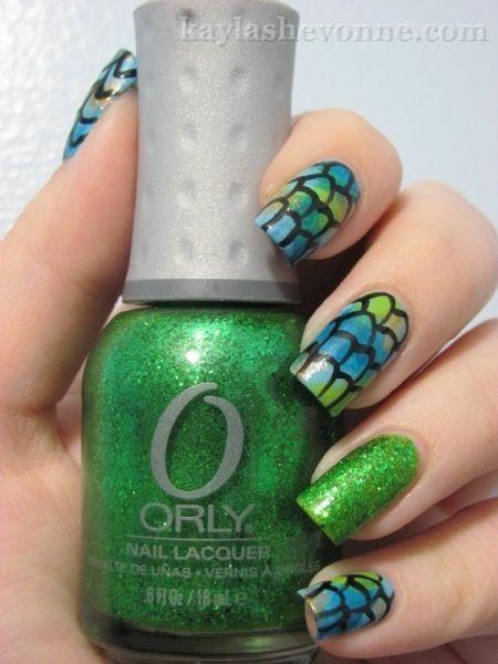Nails by Kayla Shevonne: Nail Art Tutorial - Fish Scales