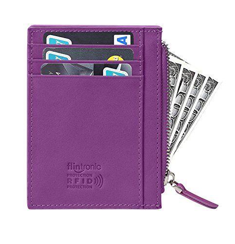 flintronic Porta Carte di Credito e Tasche Pelle RFID//NFC Blocco Portafoglio ...
