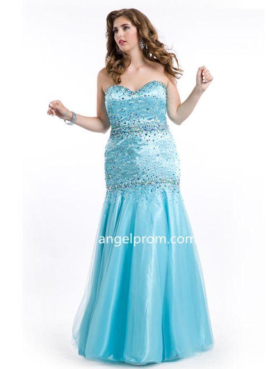Sheath/Column Sweetheart Rhinestone Plus Size Prom Dress
