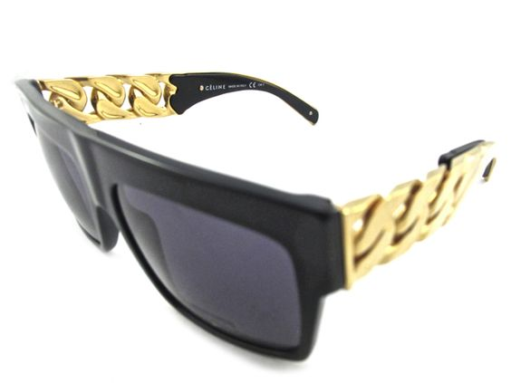 Obsessed with these $4,000 Celine Gold Chain sunglasses
