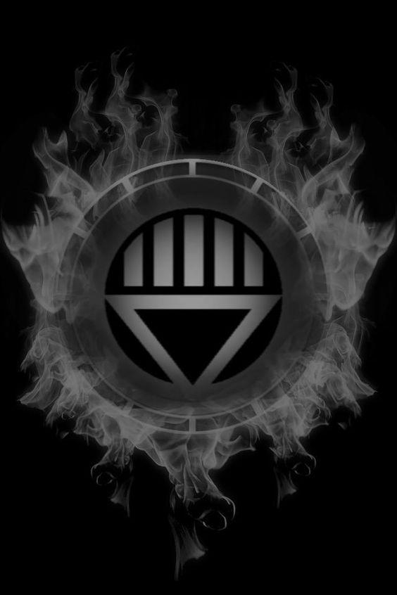 Firey Black Lantern Chamber by KalEl7 | The Lantern Corp ...  Black Lantern Superman Symbol
