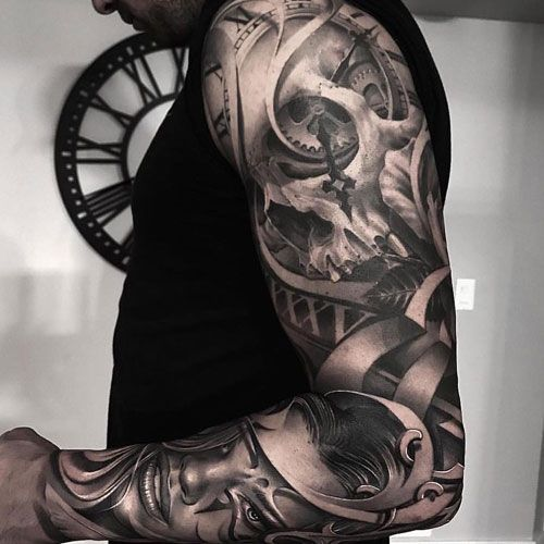 Amazing Portrait Sleeve Tattoo Ideas Best Full Arm Sleeve Tattoos For Men Cool Sleeve Tattoo Designs And I Tattoo Sleeve Men Sleeve Tattoos Tattoos For Guys