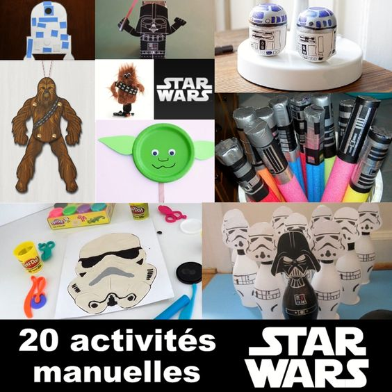20 id es d 39 activit s manuelles sur le th me de star wars activit s manuelles pinterest. Black Bedroom Furniture Sets. Home Design Ideas