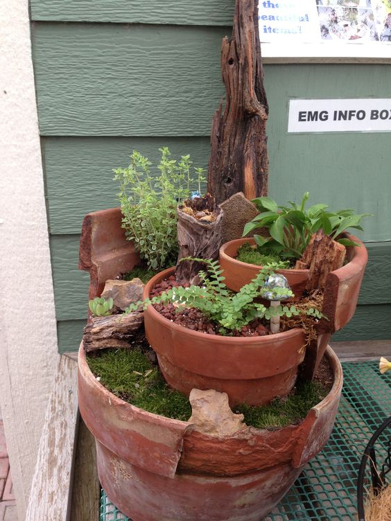 Gardens, Miniature And Clay Pots On Pinterest