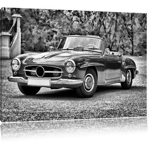 Timeless Mercedes Vintage Car Impression Photographique Sur Toile Monochrome Home Loft Concep Vintage Cars Canvas Prints Photographic Print