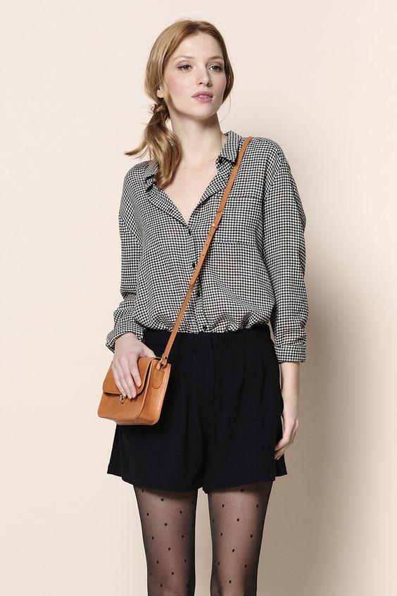 chemise Palmito carreaux 70% viscose, 30% laine - chemise - Des