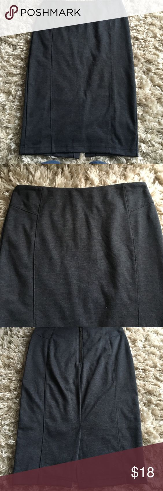 Dark gray pencil skirt. Gorgeous fit