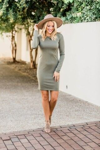 Power Of Love Olive Piko Dress