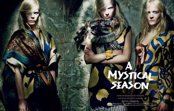Maja Salamon, Ola Rudnicka And Sasha Luss By Paolo Roversi For Vogue Japan March 2014