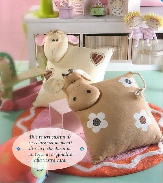 Animal Pillow Pinterest : Pillows, Cow and Animal patterns on Pinterest