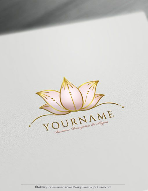 Create Flower Logo For Free Hand Drawn Lotus Logo Template Lotus Flower Logo Flower Logo Lotus Logo