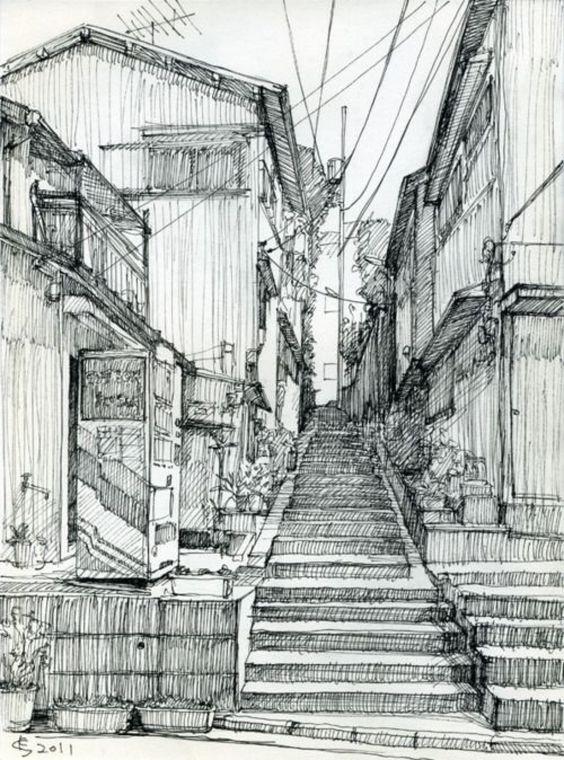Sketsa Gambar Pemandangan 6