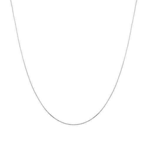 "Duragold 14k White Gold Solid Box Chain Necklace (.8mm ), 20"" Amazon Curated Collection, http://www.amazon.com/dp/B003UHUXGQ/ref=cm_sw_r_pi_dp_xcV9qb10ZGG1G"