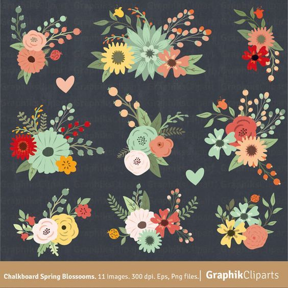 Chalk Floral Frame On The Blackboard. Frame Of Flowers. Template.. Royalty  Free Cliparts, Vectors, And Stock Illustration. Image 36794118.