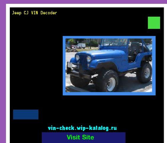 Jeep Cj Vin Decoder Lookup Jeep Cj Vin Number 160421 Jeep