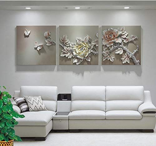 Painting Xqy Triple Relief Embossed Painting Embossed Wall Decoration Living Room Peony Three Dimensio Decorative Painting Painting Flower Abstract Painting