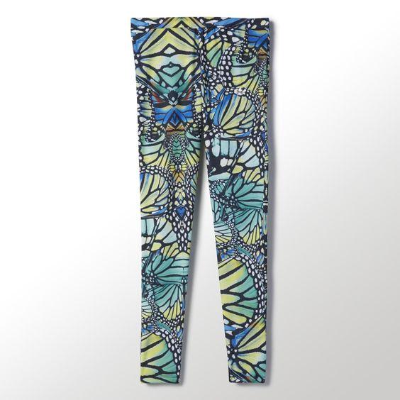 Ein Allover-Schmetterlingsprint sorgt bei diesen Leggings für Frauen für einen farbenfrohen Mosaik-Effekt. Sie sind aus weichem, dehnbarem Jersey gefertigt und kommen mit einem bequemen, breiten Bund.