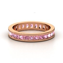 So much fun to stack with different colored rings! Brooke Eternity Band, Rose Gold Ring with Pink Tourmaline from Gemvara
