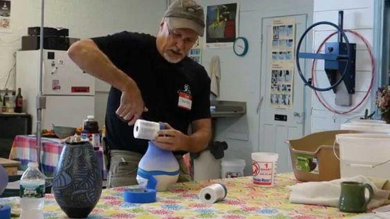 Preparing a Pot for Naked Raku Linda and Charlie Riggs - YouTube