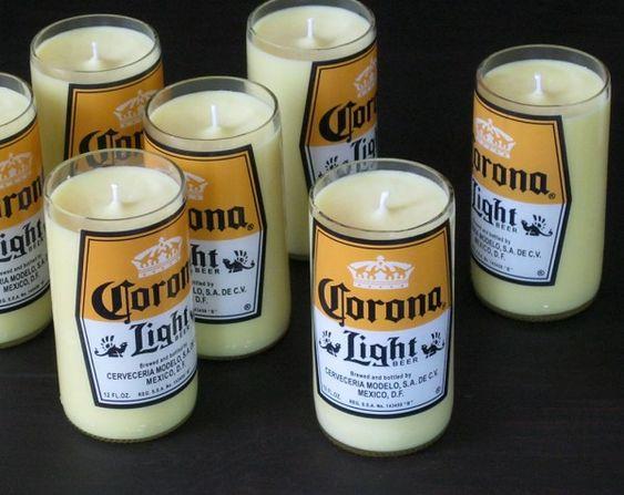 krone licht Glasflaschen bier coke gelb wachs