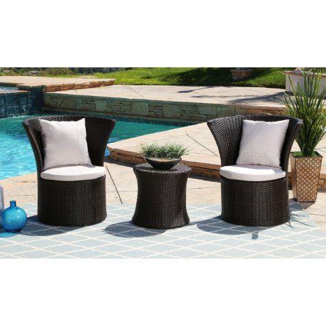 Ella 3 Piece Outdoor Bistro Set Sam S Club Outdoor Furniture