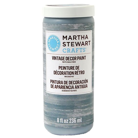 Martha Stewart Crafts Vintage Decor 8 oz. River Rock Matte Chalk Finish Paint