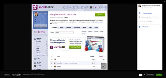 Wer mag kann seine #GooglePlus Seite in den #Statistik Index von +Socialbakers.com im jeweiligen Land kostenlos eintragen oder auch Meinungsführer im Land finden oder beobachten. Für Austria wäre das unter http://www.socialbakers.com/google-plus-statistics/country/austria/ via Natscha Ljubic G+