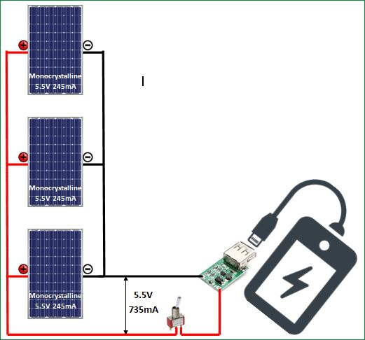 Schematic Diagram For Solar Phone Charger Solar Phone Chargers Solar Power Energy Solar Power