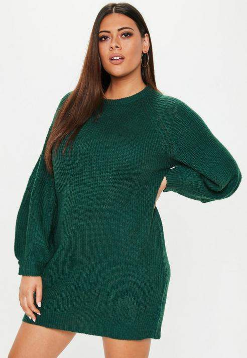 Missguided Plus Size Green Oversized Sweater Dress Plus Size Sweater Dress Sweater Dress Plus Size Outfits