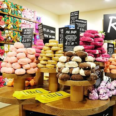 LUSH - products as good as they are colorful