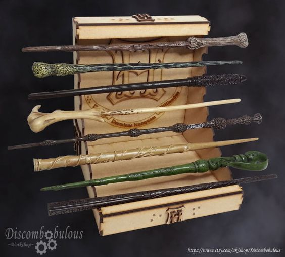 Wand stand kit wands not included for witches and for Dumbledore wand made of
