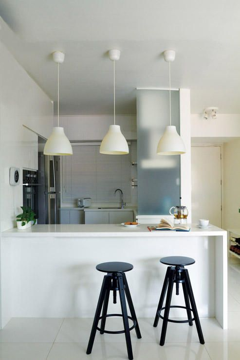No Space For A Dining Table? 16 Bar Top Ideas Here!   Home U0026 Decor  Singapore   Home Sweet Home   Pinterest   Spaces, Stylish Kitchen And  Kitchens
