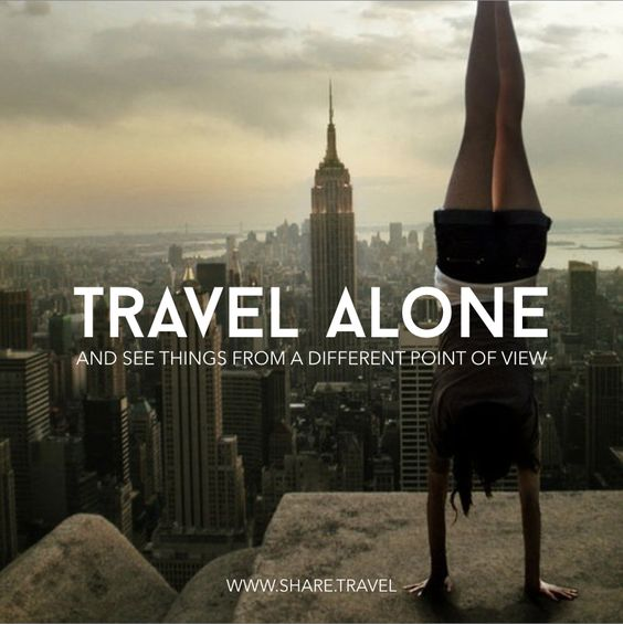 traveling alone There are many reasons to travel solo, from not having to coordinate with others'  schedules to getting to spend time doing only what interests.