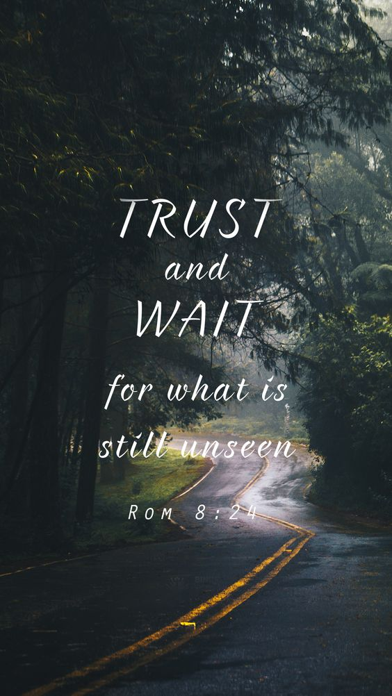 Rome 8:24 / Bible verse Lockscreen
