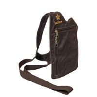 BALILOCA women's handsfree leather shoulder bag purse: chocolate