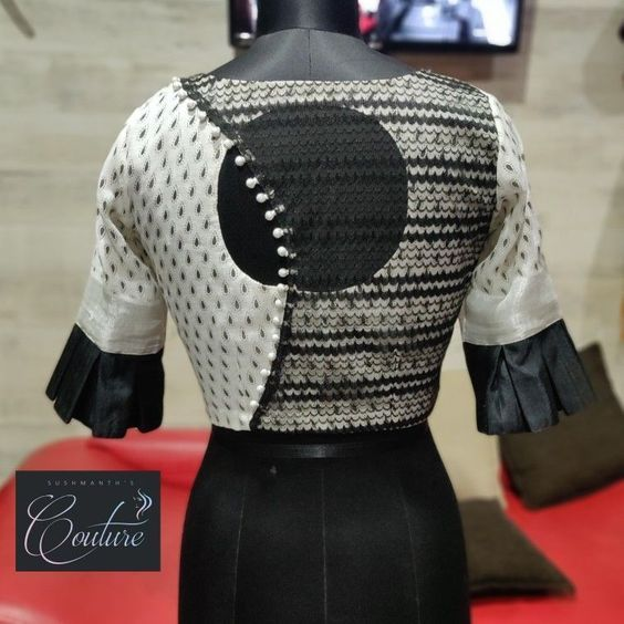 Top 30 Latest And Trendy Blouse Designs For Back Neck Designofblouse Trendy Blouse Designs Fashion Blouse Design Fancy Blouse Designs