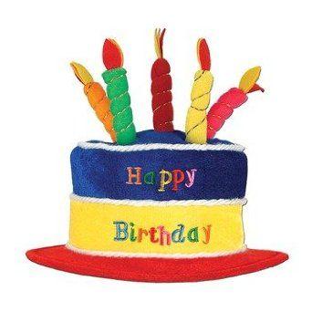 Amazon.com: Plush Happy Birthday Cake Hat Party Accessory (1 count) (1/Pkg): Clothing