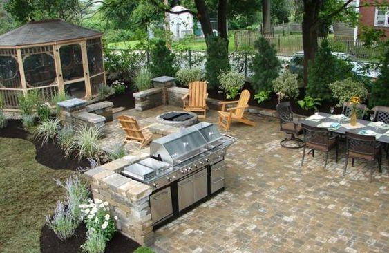 Gartengestaltungsideen Mit Küche   Architektur   Pinterest