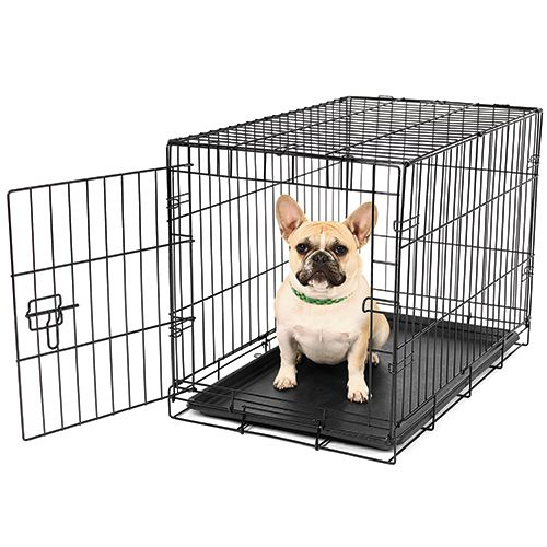 Black Wire Folding Suitcase Pet Dog Cat Crate Cage Kennel Pen W Abs Tray Lc Dog Cages Cat Crate Cat Cages