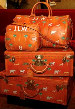 Entirely impractical but still our favorite luggage ever.  The LV bags and trunks made for the Darjeeling Limited film.  Elephants, zebras and Palm Trees — perfection.