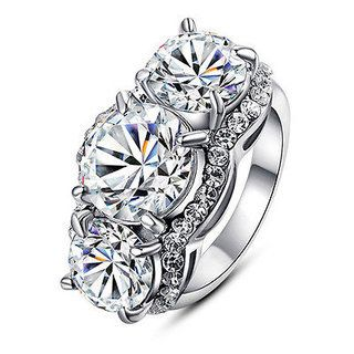 Tri Stone CZ Ring! ONLY $12.99