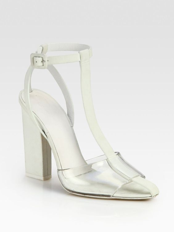 Agata Leather T-Strap Sandals by Alexander Wang