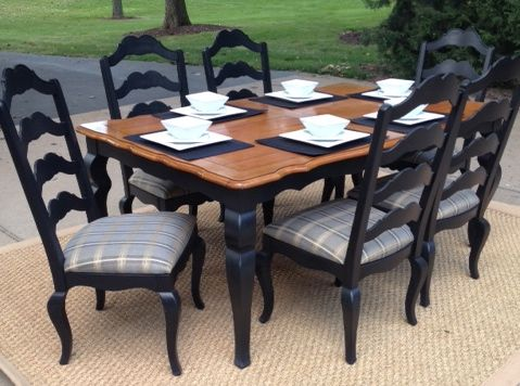 we rescued this ethan allen dining room table and chairs from a, Esstisch ideennn
