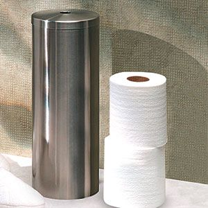 Toilets stainless steel and places on pinterest - Toilet roll canister ...
