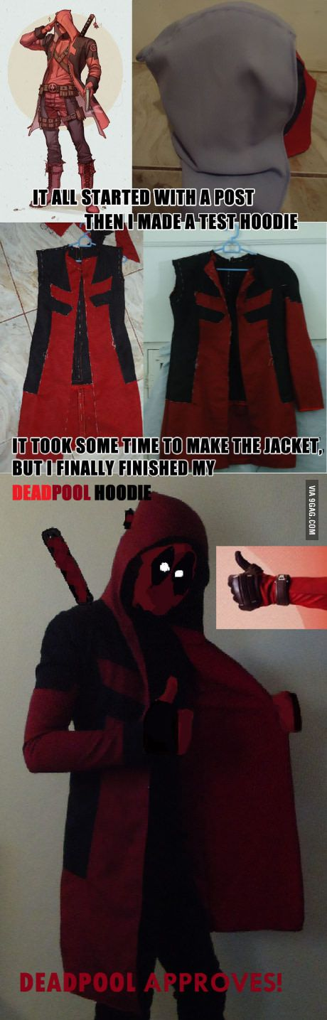 DEADPOOL HOODIE, oh and whoever originally posted the drawing, THANK YOU.