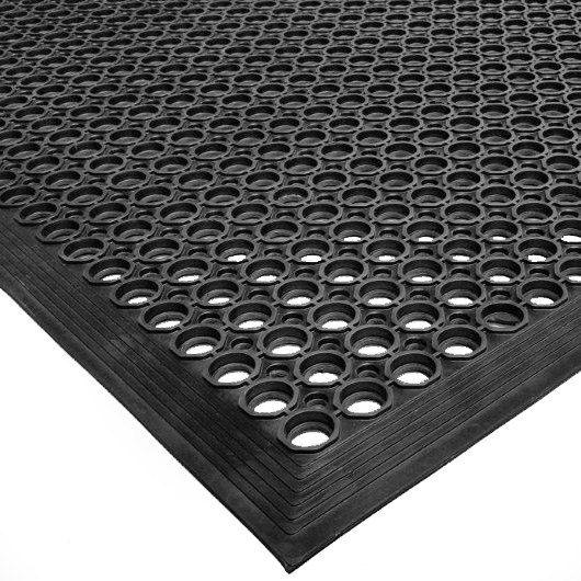 4x6 Ft Fitness 1 2 Inch Gym Floor Mat Black Rubber Floor Mats Weight Room Flooring Flooring