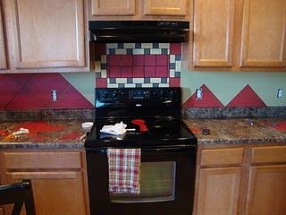 mod podge backsplash