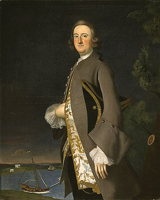 Joseph B. Blackburn (England, circa 1730 - circa 1778)   Portrait of Captain John Pigott, circa 1700-1763  Painting, Oil on canvas, 50 x 40 in. (127 x 101.6 cm)  Purchased with funds provided by the American Art Council in honor of the Museum's twenty-fifth anniversary (M.90.210.1)  American Art Department.: